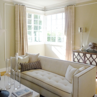 Beautiful raw silk custom curtains in Saint Francis Wood, San Francisco